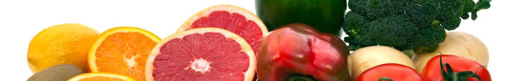 Obst und Gemüse gegen Pickel