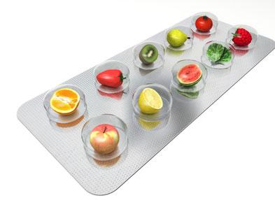 Vitamine gegen Pickel
