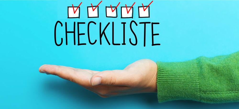 Checkliste für reine Haut